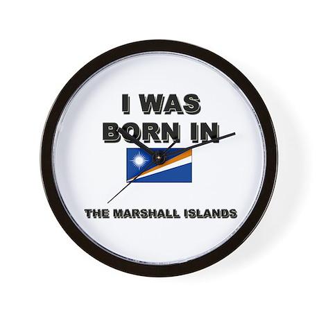 I Was Born In The Marshall Islands Wall Clock