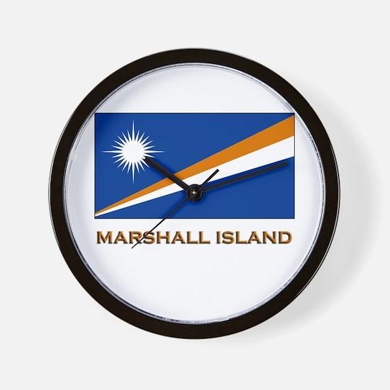 The Marshall Islands Flag Gear Wall Clock