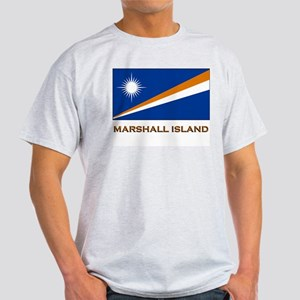 The Marshall Islands Flag Gear Ash Grey T-Shirt