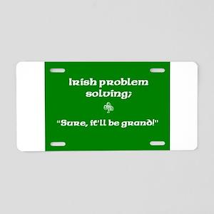 Irishproblemsolvingcafe Aluminum License Plate