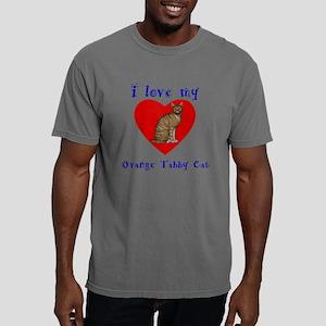 I Love My Orange Tabby C Mens Comfort Colors Shirt