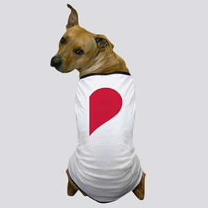 Red right half heart Dog T-Shirt
