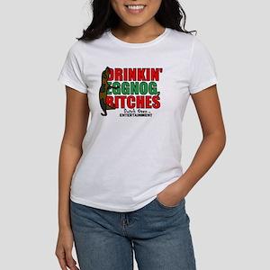 Drinkin Eggnog, Bitches Humping dog T-Shirt