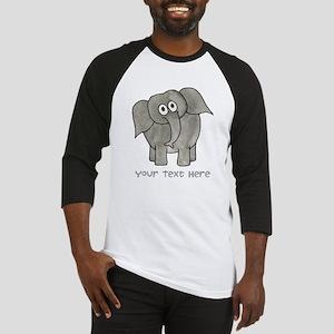 Elephant. Custom Text. Baseball Jersey