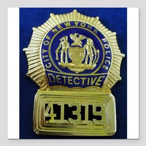 "Detective Kate Beckett Square Car Magnet 3"" x 3"""