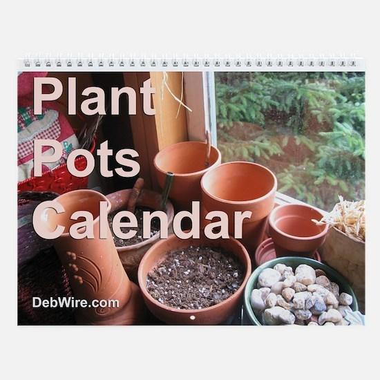 Plant Pots Wall Calendar