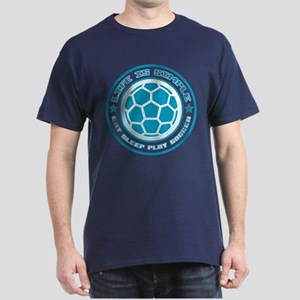 Eat, Sleep, Play Soccer Dark T-Shirt
