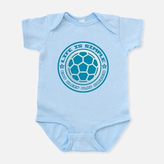 Eat, Sleep, Play Soccer Infant Bodysuit