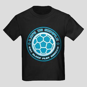 Eat, Sleep, Play Soccer Kids Dark T-Shirt