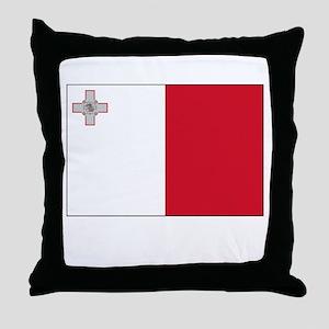 Malta Flag Picture Throw Pillow