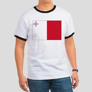 Malta Flag Picture Ringer T