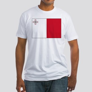 Malta Flag Picture Fitted T-Shirt
