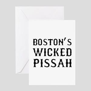 Boston Wicked Pissah Greeting Card