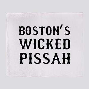 Boston Wicked Pissah Throw Blanket