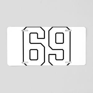 NUMBER 69 Aluminum License Plate