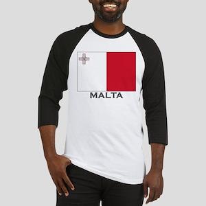 Malta Flag Stuff Baseball Jersey