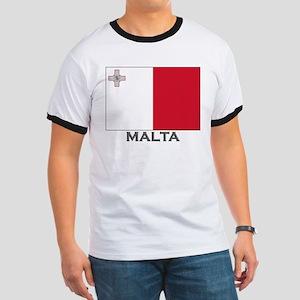 Malta Flag Stuff Ringer T