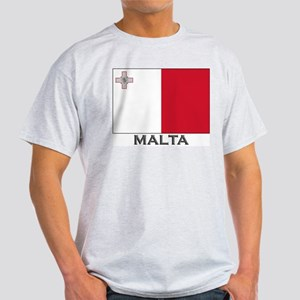 Malta Flag Stuff Ash Grey T-Shirt