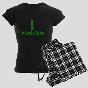 Parkour, Green, Stand Up! Women's Dark Pajamas