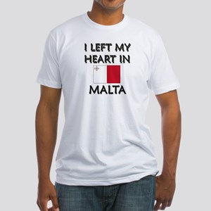 I Left My Heart In Malta Fitted T-Shirt