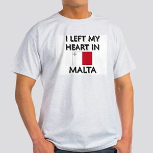 I Left My Heart In Malta Ash Grey T-Shirt