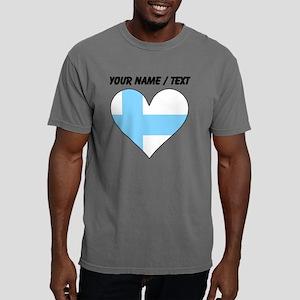 Custom Finland Flag Hear Mens Comfort Colors Shirt