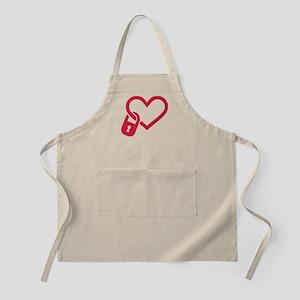 Red heart lock Apron