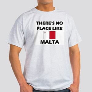 There Is No Place Like Malta Ash Grey T-Shirt