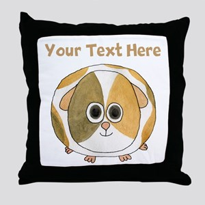 Guinea Pig. Custom Text. Throw Pillow