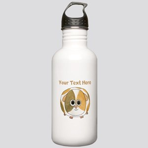 Guinea Pig. Custom Text. Stainless Water Bottle 1.