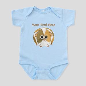 Guinea Pig. Custom Text. Infant Bodysuit