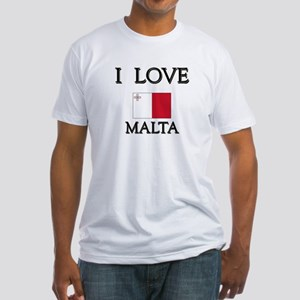 I Love Malta Fitted T-Shirt