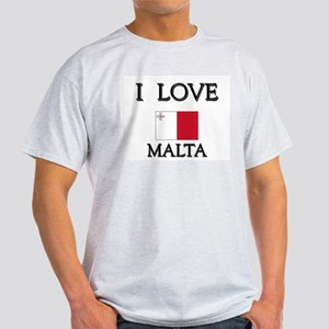I Love Malta Ash Grey T-Shirt