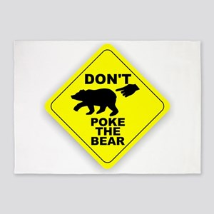 Dont Poke The Bear 5'x7'Area Rug