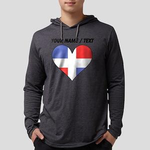 Custom Dominican Republic Flag H Mens Hooded Shirt