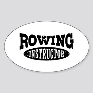 Rowing Instructor Sticker (Oval)