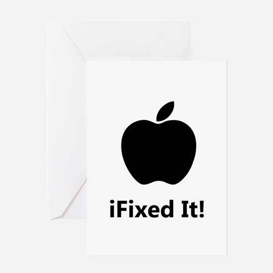 iFixed It Apple Greeting Card