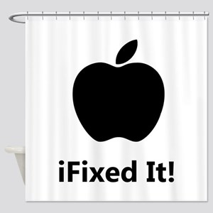 iFixed It Apple Shower Curtain