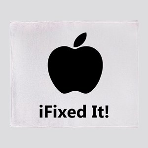iFixed It Apple Throw Blanket