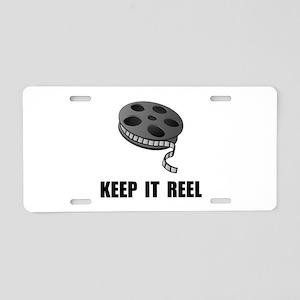 Keep Movie Reel Aluminum License Plate
