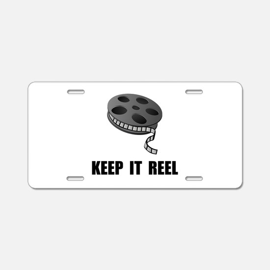 Keep Movie Reel Aluminum License Plate