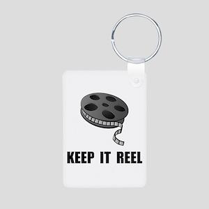Keep Movie Reel Aluminum Photo Keychain
