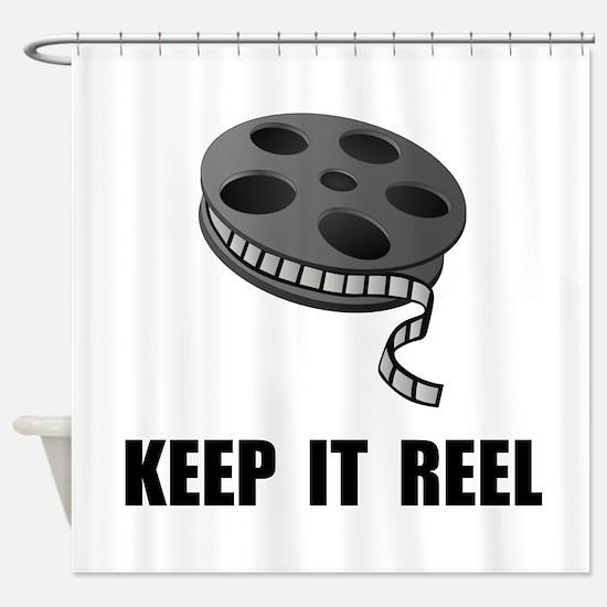 Keep Movie Reel Shower Curtain