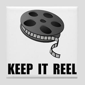 Keep Movie Reel Tile Coaster