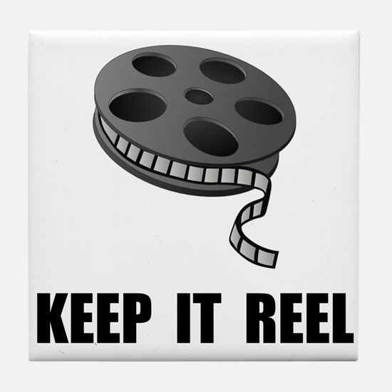 Keep Movie Reel Tile Coaster