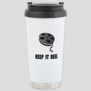Keep Movie Reel Stainless Steel Travel Mug