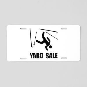 Ski Yard Sale Aluminum License Plate