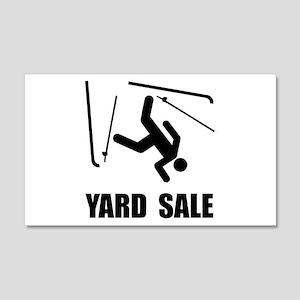 Ski Yard Sale 20x12 Wall Decal