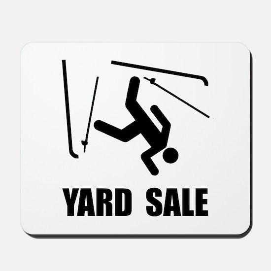 Ski Yard Sale Mousepad