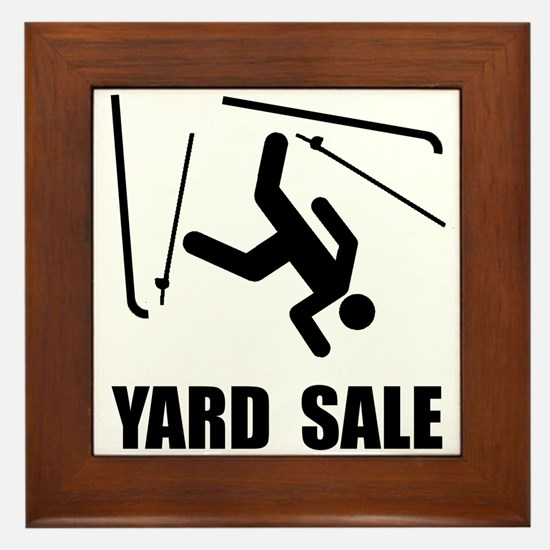 Ski Yard Sale Framed Tile
